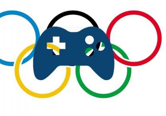 Esports joystick and the Olympic logo
