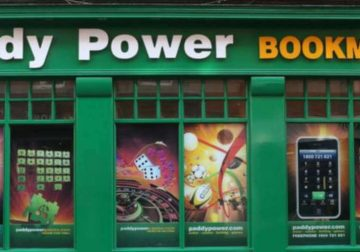 Paddy Power's betting shop's facade.
