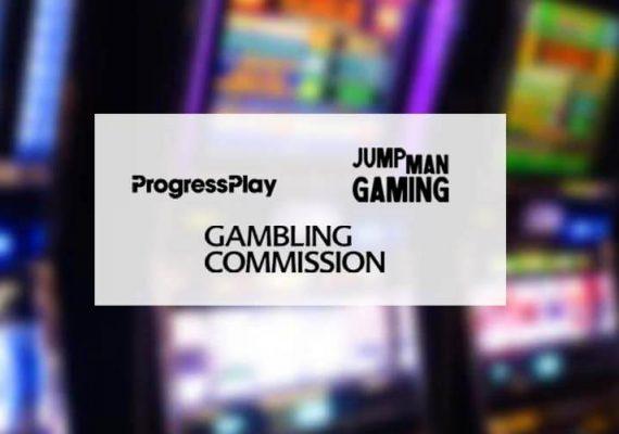 ProgressPlay, Jumpman Gaming and Gambling Commission's logos.
