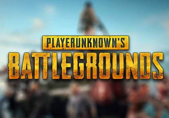 PUBG 's logo on the backdrop of the game's avatars.