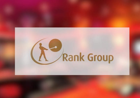 Rank Group's casino interior and corporate logo.