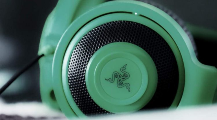 A set of Razer headphones.
