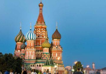 Red Square in Russia.