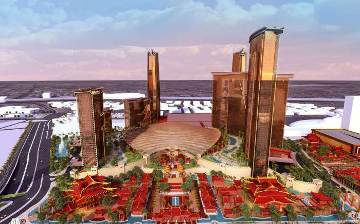 Model of Resorts World Las Vegas by Genting.