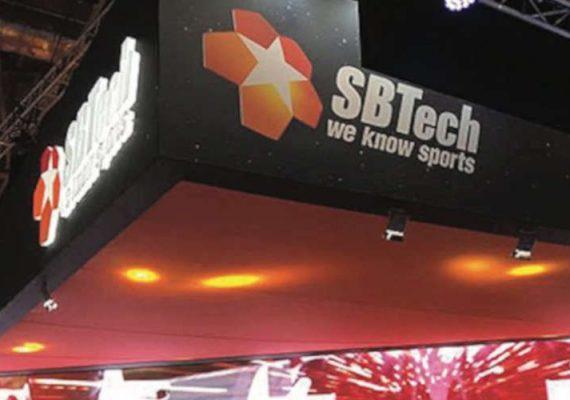 SBTech's boot at an expo.