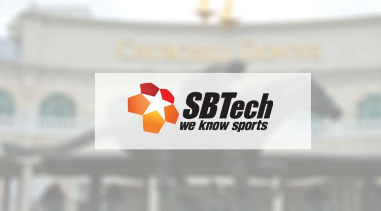 SBTech's logo and Churchill down in the background.