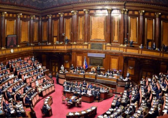 Italy's Senate during a session.