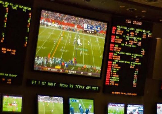 Sports betting monitors.