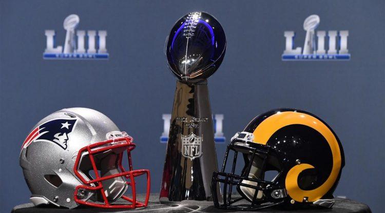 Super Bowl's Patriots vs the Rams in 2019.