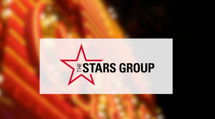 The star group's logo against a casino background..