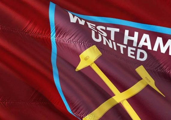 West Ham's team flag