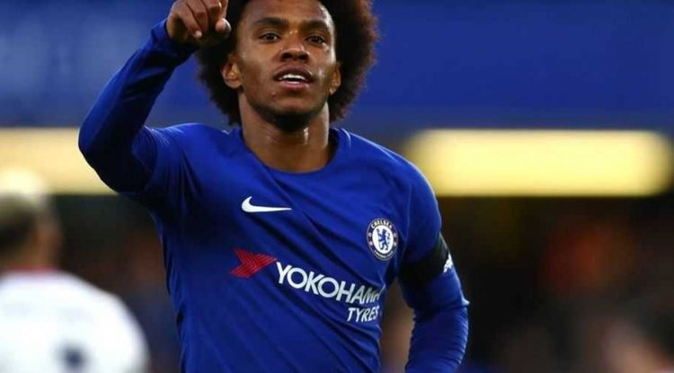 Willian after a goal